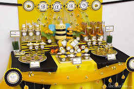 Bumble Bee Theme Baby Shower Party Ideas Decorations Bee Baby Bumble Bee Baby Shower Party Favors