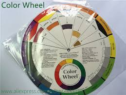 1x Tattoo Pigment Color Wheel Chart Supplies Art Paper Mix