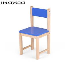 ikayaa de stock cute wooden kids chair stool solid pine wood children stacking school chair furniture