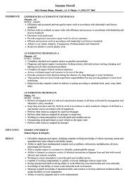 Cover Letter Automotive Technician Resume Samples Velvet Jobs
