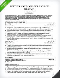 Restaurant Manager Resume Sample Awesome Restaurant Floor Manager Job Responsibilities Resturant Resume