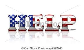 american flag word art the word help in the american flag colors american needing help