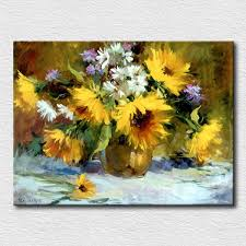 2019 yellow sunflowers oil painting thick textured canvas painting for bedroom decoration wall pictures painted canvas from qushimei88 578 9 dhgate com