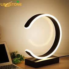 modern desk lamps. Simple Lamps Led Table Lamp Modern Desk Black Book Reading Light Button Switch  Bedroom Living Room Study Inside Lamps A