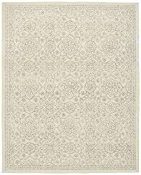 stone beam contemporary doily wool rug 8 x 10 ivory