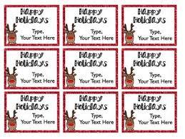 Holiday And Christmas Gift Tags Editable Freebie