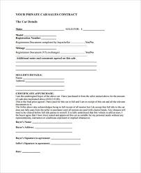 Personal Car Sale Agreement Free 32 Sales Agreement Forms Pdf