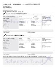 what is a travel itinerary sample flight reservation or flight itinerary for visa