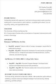 College Resumes Examples Resume Template Directory