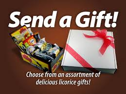 send a gift choose from an ortment of delicious licorice gifts