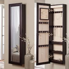 Mirrored Jewelry Cabinet Armoire Wall Mounted Jewelry Cabinet Mirror 1463w X 4813h In