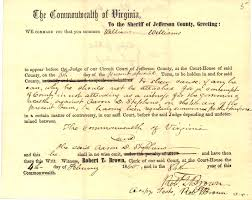 john brown essay john brown papers held by jefferson county circuit clerk s office