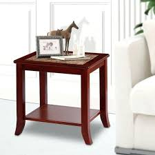 light brown natural marble top solid wood end table oak tables with resin for 2 drawers nightstand contemporary vintage bedside table solid wood end