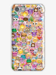 Happy Emoji Pattern Iphone 7 Snap Case ...