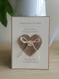 best 25 burlap card ideas on pinterest diy cards with ribbons Handcrafted Video Wedding Invitations 10 x handmade hessian heart save the date cards wedding stationery Amazing Wedding Invitations