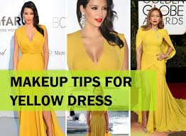 makeup tips and ideas for yellow dress