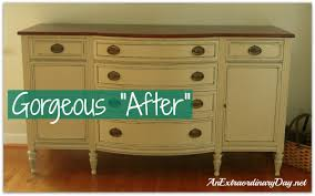 painting old furnitureAnnie Sloan Chalk Paint Transforming a Vintage Sideboard with