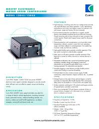 motor speed controllers 1204x 1205x curtis instruments pdf motor speed controllers 1204x 1205x 1 2 pages