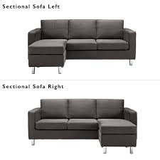 black sectional sofa. Interesting Black Dorel Living Small Spaces Configurable Sectional Sofa Multiple Colors   Walmartcom Inside Black Sofa C