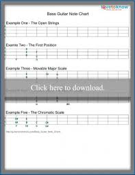 Bass Guitar Note Charts Lovetoknow