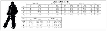 Womens Ski Size Chart Buy Womens All In One Snowmobile Suit Coolzone 18 Mix 3512 27