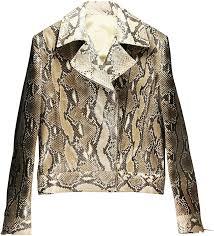genuine python snake leather jacket snjacket02pt natural