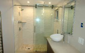 glass framed frameless tub doors
