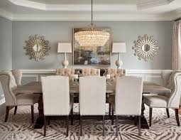 59020 round mirror in dining room dining room transitional with living room dining room wingback chairs