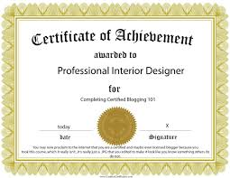 certificate of interior design. Interesting Certificate Certificate Of Achievement Template Jpg W 1108 Interior Designer  Certification 4 To Design