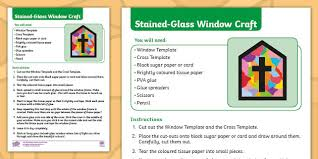 stained glass window craft instructions