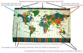 Time Map World Time Zones Map On Cloth Educational World Time Zone