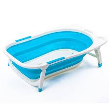 baby folding collapsible portable bathtub w block