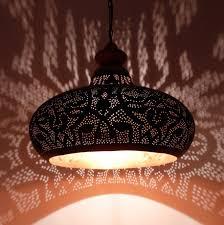 Oosterse Filigrain Lamp Zwartkoper