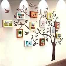 wall photo frames design unique family tree photo frame and decal wall photo frames design