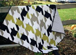 Solid Fabric Quilts – co-nnect.me & ... Modern Quilt Masculine Quilt Houndstooth Quilt Lap Quilt In Solid Black  White Solid Fabric Quilt Patterns ... Adamdwight.com