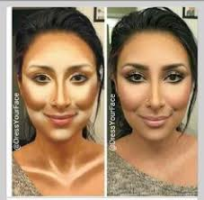model uses excess concealer and contour to show you where to put it