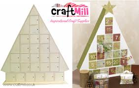 24 door tree shaped advent calendar wooden advent calendars plain wooden boxes decoupage blanks craftmill