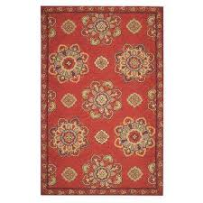 bianca red 8 ft x 10 ft area rug
