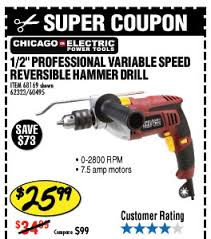 harbor freight hammer drill. heavy duty variable speed reversible hammer drill harbor freight 6