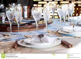 glasses table setting. Beautiful Table Setting Crystal Glasses
