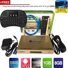 Android Tivi Box Kiwi S68 4K Ultra HD RAM 1GB chip Amlogic S805 - Đầu phát  Media [Hà Nội]