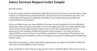 Requesting A Salary Increase Salary Increase Letter Template Request Uk Format Of