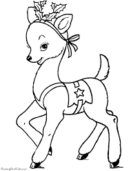 Small Picture Free Coloring Pages Of Santa And Reindeer RedCabWorcester