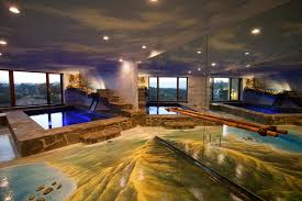 indoor pool bar. Indoor Pool Custom Mural Bar