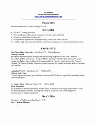 Template Personal Trainer Resume Sample New Cover Letter Example