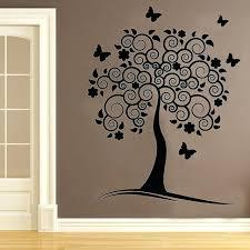 tree branch wall decor vinyl painting sticker gold