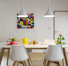 Hanglamp Boven Eettafel Led Conisch Wit 305mm H 24w Myplanetled