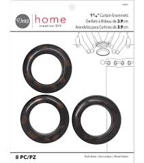 dritz 1 56 u0022 curtain grommets brown 8pcs