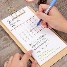 jianwu simple style type desk calendar 2017 2018 rainlendar weekly planner diy memorandum