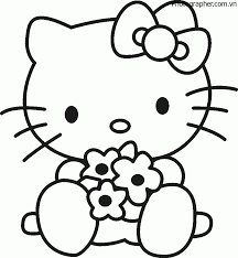 Trọn bộ tranh tô màu Hello Kitty đẹp, dễ thương nhất